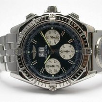 Breitling A44355 Crosswind Chronograph Steel Mens Watch Blue...