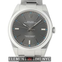 Rolex Oyster Perpetual 39mm No-Date Stainless Steel Dark...