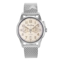 Breitling Transocean Chronograph 1915 Steel 43mm Silver Arabic numerals United States of America, New York, New York
