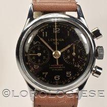 Lemania 105 – Original 1960`s 32mm Waterproof Steel Black Dial...