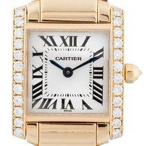 Cartier Tank Francaise 18ct Gold Diamond(Cartier serviced 2018)