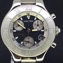 Cartier Chronographe 38mm Quartz 2009 occasion 21 Chronoscaph Noir