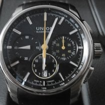 Union Glashütte Belisar Chronograph pre-owned 43mm Black Chronograph Date Rubber