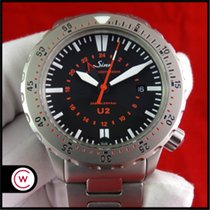 Sinn U2 Steel 44mm Black No numerals