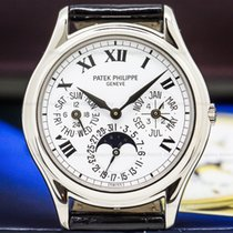 Patek Philippe White gold Automatic Roman numerals 36mm pre-owned Perpetual Calendar