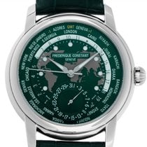 Frederique Constant 42mm Automatic new Manufacture Worldtimer Green