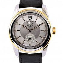 Tudor Glamour Double Date Gold/Steel 42mm Silver No numerals