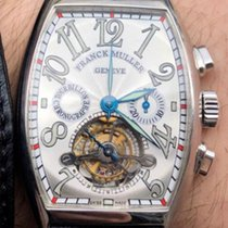 Franck Muller Platinum Manual winding Silver Arabic numerals 42mm pre-owned Cintrée Curvex