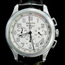 Zenith El Primero Chronograph Staal 40mm Wit Arabisch