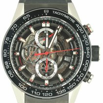 TAG Heuer Carrera Calibre HEUER 01 pre-owned 44mm Chronograph Rubber