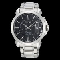 Seiko Premier Steel 41,5mm Black No numerals