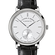 A. Lange & Söhne Saxonia White gold 38.5mm Silver No numerals United Kingdom, London