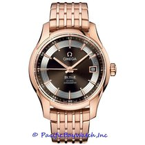 Omega Rose gold Automatic Brown new De Ville Hour Vision