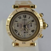 Cartier Pasha pre-owned 38mm Silver Chronograph Yellow gold