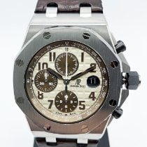 Audemars Piguet Royal Oak Offshore Chronograph occasion 42mm Champagne Chronographe Date Cuir