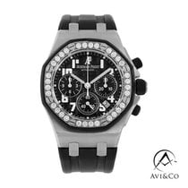 Audemars Piguet Royal Oak Offshore Lady Acero 37mm Negro Arábigos