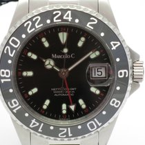 "Marcello C. ""Nettuno 3 GMT"" 40mm. case/ceramic 24hrs. bezel...."