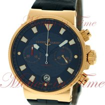 Ulysse Nardin Blue Seal Rose gold 41mm Blue No numerals United States of America, New York, New York
