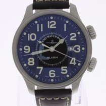 Zeno-Watch Basel Oversized Pilot Alarm NEW