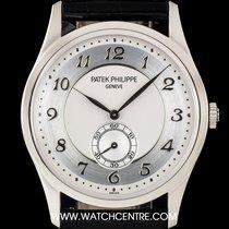 Patek Philippe Platinum Silver Dial Calatrava Gents 5196P