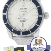Breitling SuperOcean Heritage 46 A17320 Blue White 46mm Mesh...