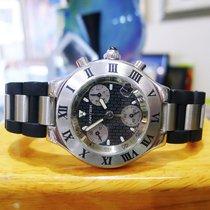 Cartier Chronoscaph 21 Stainless Steel Chronograph Men's...