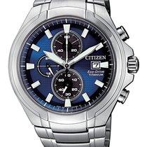 Citizen Titanium 42,5mm Quartz CA0700-86L CITIZEN  Super Titanio CRONO 0700 42mm Blu new