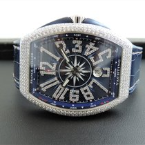 Franck Muller White gold Automatic Blue Arabic numerals 53,7mm new Vanguard