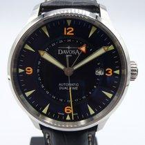 Davosa Vigo Steel 40mm Black Arabic numerals