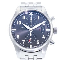 IWC Pilot Spitfire Chronograph pre-owned 43mm Grey Date Steel
