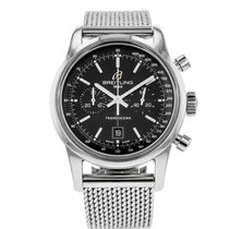 Breitling Transocean Chronograph 38 pre-owned 38mm Black Chronograph Date Steel