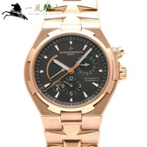 Vacheron Constantin Rose gold Automatic Brown 42mm pre-owned Overseas Dual Time
