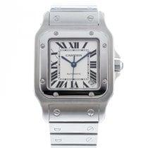 Cartier Santos Galbée pre-owned 32mm Silver Date Steel
