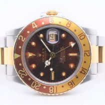 Rolex Steel Automatic Brown No numerals 40mm pre-owned GMT-Master