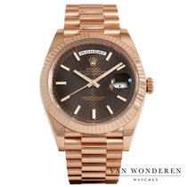 Rolex Day-Date 40 Rose gold 40mm Brown