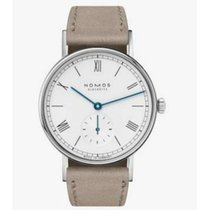 NOMOS Ludwig 33 Staal 32.8mm Zilver Romeins