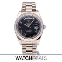 Rolex Day-Date II White gold 41mm Black