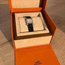 Hermès Damenuhr Heure H 22mm Quarz gebraucht Uhr mit Original-Box