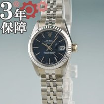 Rolex Lady-Datejust White gold 26mm Blue