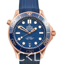 Omega Seamaster Diver 300 M Or rose 42mm Bleu