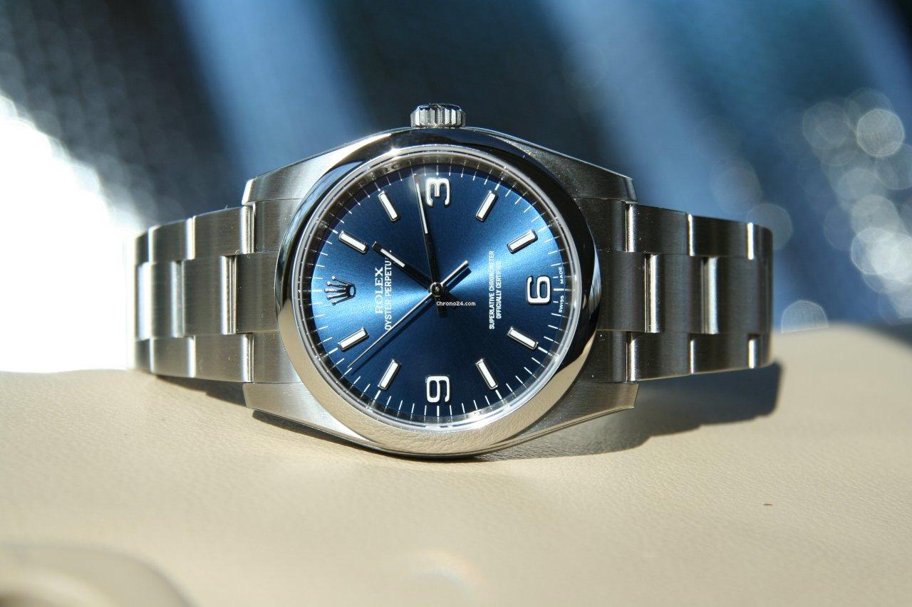 Rolex Oyster Perpetual 36mm Blue Dial 224 Vendre Pour 4 300 Par Un Trusted Seller Sur Chrono24