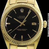 Rolex 1601 Datejust 18k Black Gloss Mirror Dial