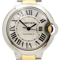 Cartier Ballon Bleu 33mm Steel & 18K Yellow Gold Watch