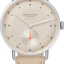 NOMOS 1107 Champagner Steel 2021 Metro Neomatik 35mm new United States of America, New York, Airmont