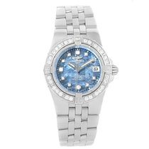 Breitling Starliner Blue Mother Of Pearl Diamond Watch A71340...