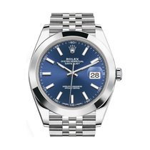 Rolex Datejust model 126300 41mm Blue Navy  Dial Jubilee