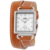Shinola The Cass White Dial Leather Strap Ladies Watch 20018132