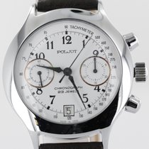Poljot Chronograph 38mm Manual winding pre-owned White