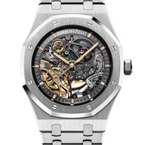Audemars Piguet Royal Oak Double Balance Wheel Openworked Acciaio 41mm Trasparente Senza numeri