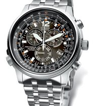 Citizen Steel 42mm Quartz AS4020-52E new